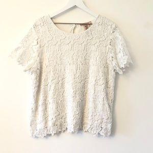 Philosophy Coastal White Lace Top SzXL